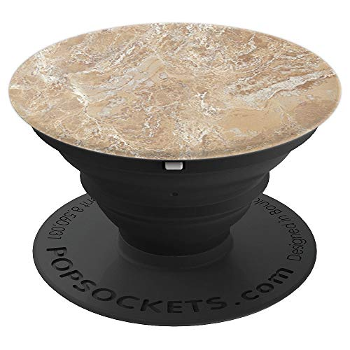 (Precious Beige Marble Stone Pattern Optics Graphic Gift - PopSockets Grip and Stand for Phones and Tablets)