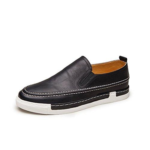 Mens Casual Slip On Boat Shoes Mocassini Classici Da Guida Sneaker 925 Nero