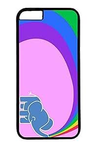 iPhone 6 Case, Personalized Unique Design Protective Cover for iPhone 6 PC Black Edge Case - Cute Elephant
