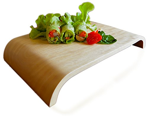 RoRo Handcarved Natural Wood Food Display and Tray