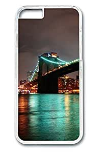 Brian114 Brooklyn Bridge New York At Night Phone the Case For HTC One M7 Cover Clear