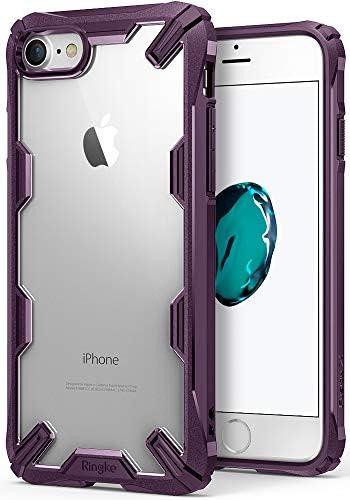 Ringke Fusion X طراحی شده برای آیفون 7 مورد ، آیفون 8 مورد نظامی افت Drop Cover Cover Defense Defense - Lilac Purple