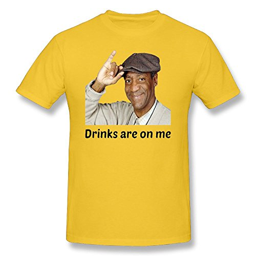 200051dcd5 Trendy Tees Bill Cosby Drinks are On Me Funny T Shirt by Novelty Party Gift  Unisex