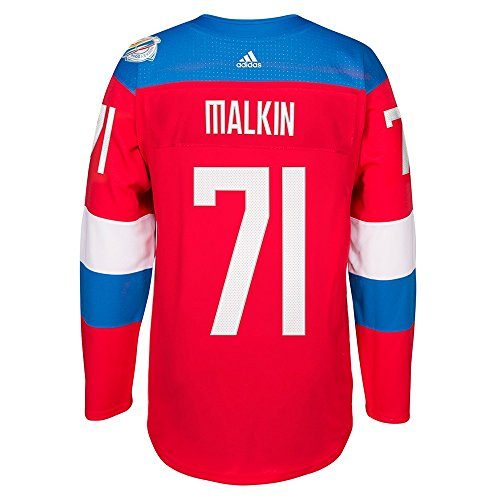 adidas Evgeni Malkin Russia NHL Red Premier Wolrd of Hockey #71 Jersey for Men (L)