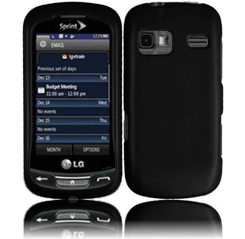 (Black Hard Case Cover for LG Rumor Reflex LN272)