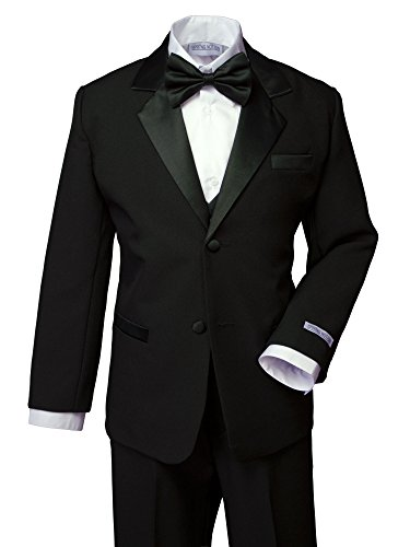 Spring Notion Boys' Classic Fit Tuxedo Set, No Tail 16 Black (16 Tuxedo)