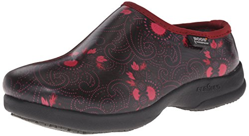Bogs Women's Oliver Batik Slip Resistant Work Shoe, Red/Multi, 9 M US by Bogs