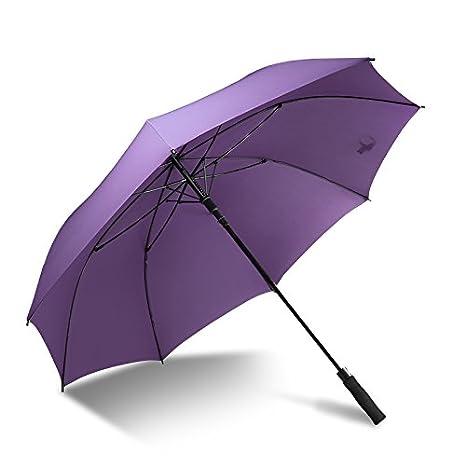 Paraguas Xiuxiutian Tallo largo PARAGUAS paraguas grande el viento barómetro de hombres y mujeres con doble