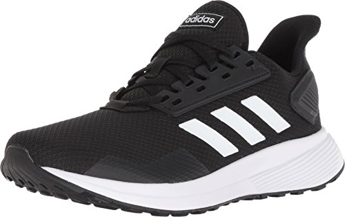 adidas Men's Duramo 9 Running Shoe, Black/White, 10.5 Wide US