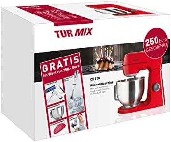 Turmix CX 910 - Robot de cocina con varilla, batidora y accesorios, color rojo: Amazon.es: Hogar