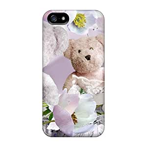 Faddish Phone Teddys Flowers Case For Iphone 5/5s / Perfect Case Cover