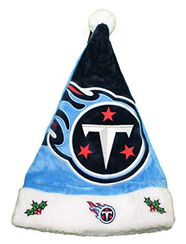 - Forever Collectibles Tennessee Titans 2018 NFL Basic Logo Plush Christmas Santa Hat