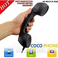 Ceuta Retails, Coco Phone Radiation Free Phone 3.5mm Wired Retro Handset Receiver (Multi Color)