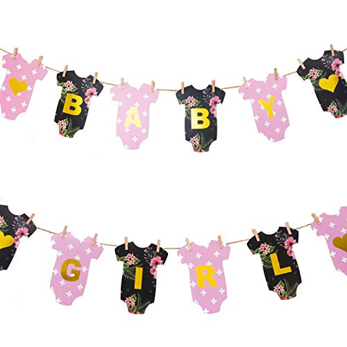Baby Shower Banner for a Girl DIY Clothesline/