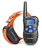 Training Dog Collar - Dogwidgets DW-18 Dog Training Collar With Remote 100 Levels Of Shock Vibration Warning Sound Beep Rechargeable Waterproof 330 Yards Pet Trainer