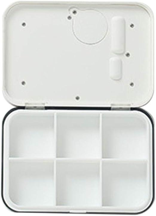 Mayoaoa Dispensador automático de Pastillas con Recuerdo, 6/4 Grids, Caja para Pastillas, Mini Pastillero, con Alarma, para Viajes: Amazon.es: Hogar