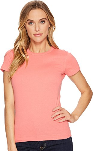Three Dots Women's Kennedy Short Sleeve Crew Watermelon Large