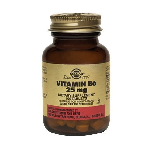 Solgar - Vitamine B6, 25 mg, 100 comprimés