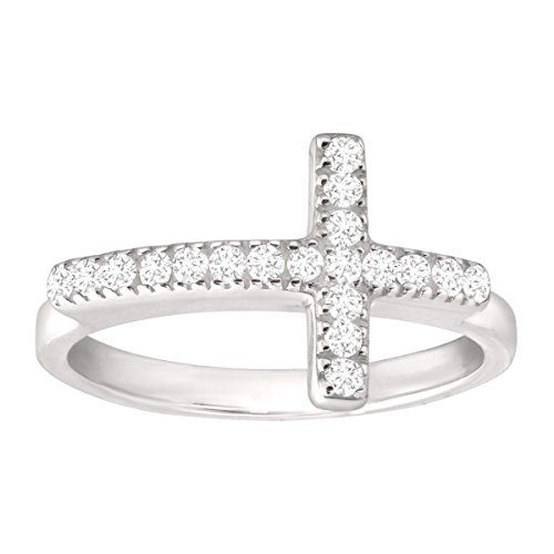 Silpada 'Reverence' Sterling Silver and Cubic Zirconia Ring, Size 9