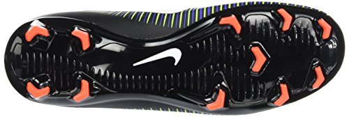 Nike 831943-013, Botas de Fútbol Para Niños Negro (Black / White-Electric Green)