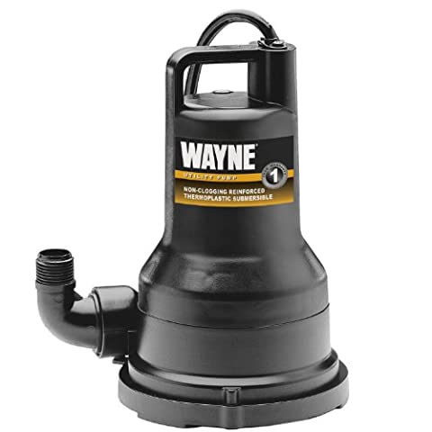 WAYNE VIP25 1/4 HP Thermoplastic Portable Electric Water Removal Pump - 0.25 Hp Water