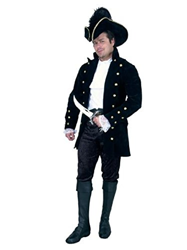 Men X-Large (46-48) - Pirate of the Caribbean , Colonial Man or Aristocrat Brown JACKET Only ()