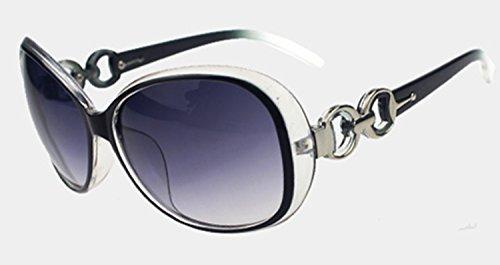 gafas mujeres tamaño sol gafas de de Blanc de 023 retro UV de protección moda de gafas WeiMay gran sol sol 1BwY7Bdq