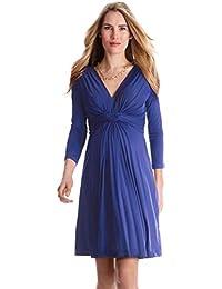 Maternity Women's Front Knot Dress 3/4 sleeve-1