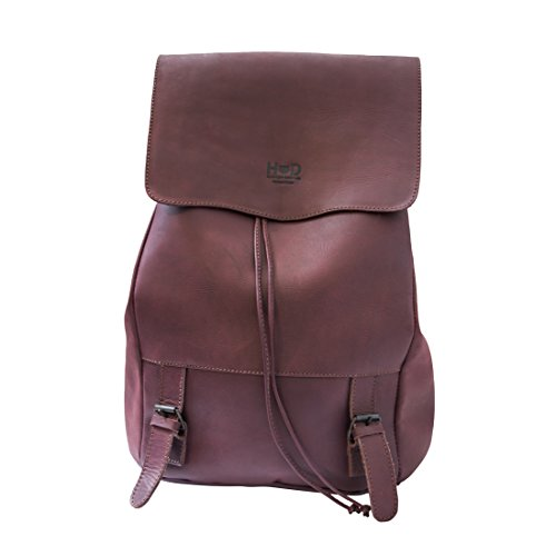 Chic Leather Laptop Backpack Handmade by Hide and Drink :: Lavender