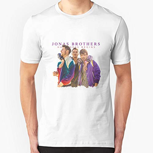 Jonas Brothers Happiness Begins Slim Fit TShirtT shirt Hoodie for Men, Women Unisex Full Size.