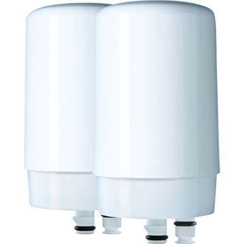 Brita On Tap Principal Water Faucet Filtration System Filter, White, 2 pack