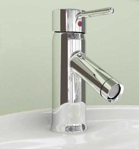 Yanksmart Single Hole Brass Basin Mixer Waterfall Tap Lavatory Faucet, Chrome Finish Ys2421
