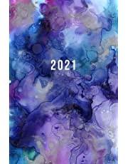 2021: Starting in May 2021 | Daily Planner With Hourly Time Slots 5am - 11pm | 6 x 9 Dated Agenda | 1 Day Per Page | Monday Start Appointment Calendar | Organizer Book | Soft-Cover Watercolor