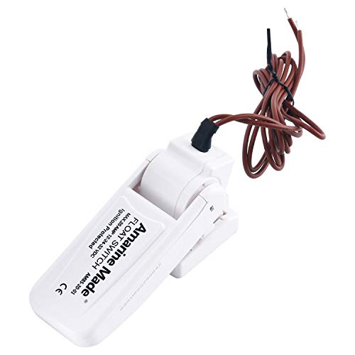 Amarine Made Marine Boat Bilge Pump Float Switch - White