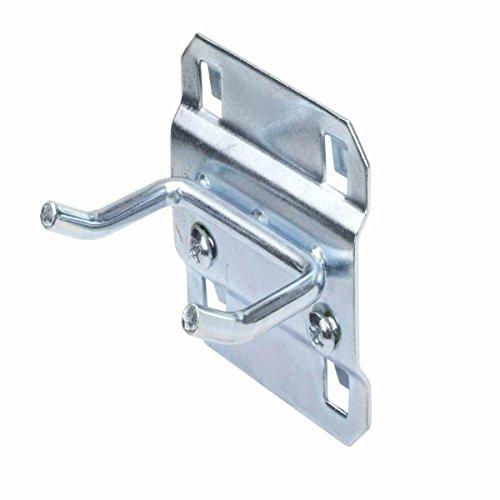 Triton Products 52113 LocHook 1-Inch Double Rod 30-Degree Bend 3/16-Inch Diameter Zinc Plated Steel Pegboard Hook for LocBoard, 5-Pack by LocHook