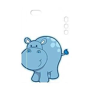 Hippo DIY 3D Case for Iphone 5,5S, 3D Custom Hippo Case