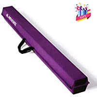 MaxKare Balance Beam 9FT Gymnastics Beam with Grip Suede Anti-Slip Base Gymnastics Beam for Home