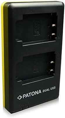 PATONA Cargador de batería doble para Sony NP-BX1, NPBX1 con Cable Micro-USB