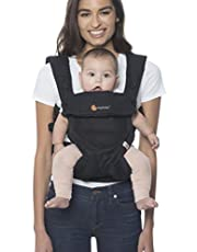 Ergobaby Carrier, 360 All Carry Positions Baby Carrier with Cool Air Mesh, Onyx Black