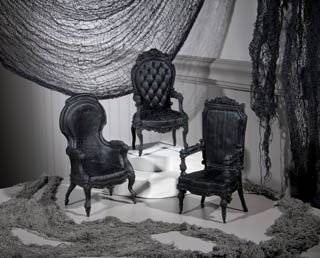 Gothic Home Decor (Gothic Chairs- Set Of 3)