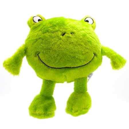 ZippyPaws Brainey Squeaky Plush Dog Toy, Frog ()