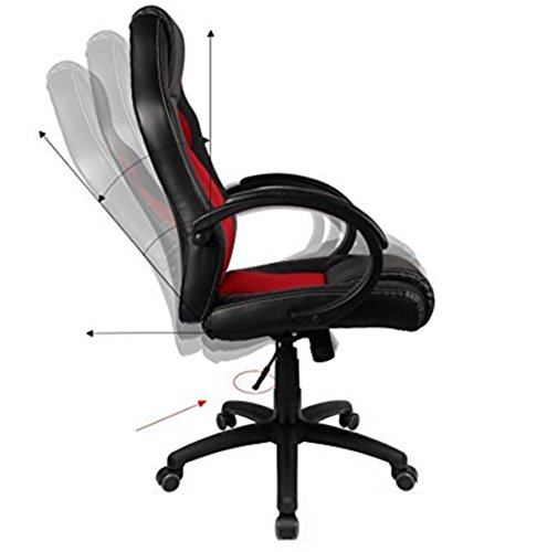 Ids Home Office Adjustable Desk Mesh Chair Red All