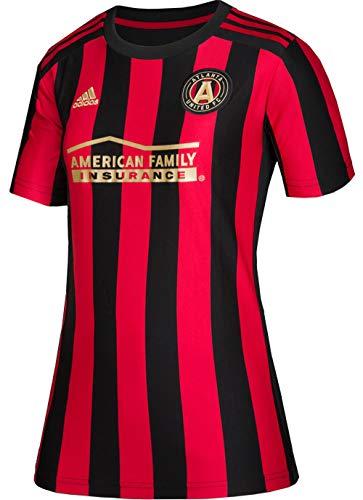 (adidas Atlanta United FC Women's Replica Primary Jersey-Black/Red-M)