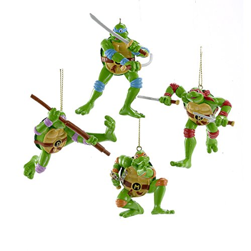 Kurt Adler Retro Ninja Turtles Ornament Set