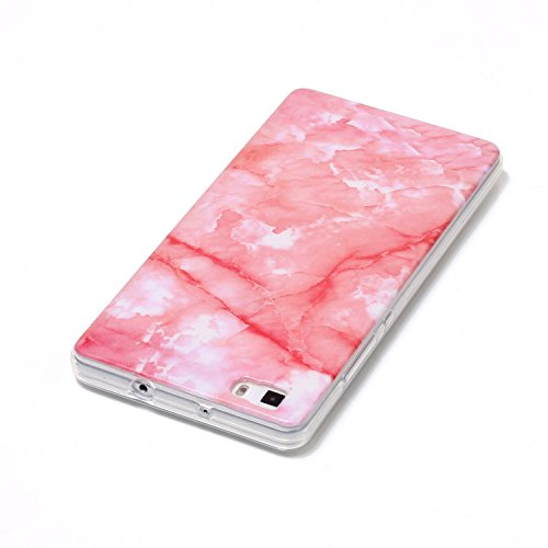 inShang funda para HUAWEI P9 Lite funda del teléfono móvil, anti deslizamiento, ultra delgado y ligero, Estuche, Cubierta, carcasa suave hecho en el material de la TPU, cómodo Case Cover for P9 Lite,m Deep pink