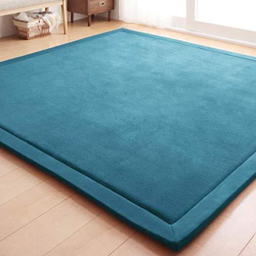 (Large Thick Coral Fleece Rug Tatami Mat Bedroom Living Room Carpet Baby Crawling Mat Memory Foam Pads )