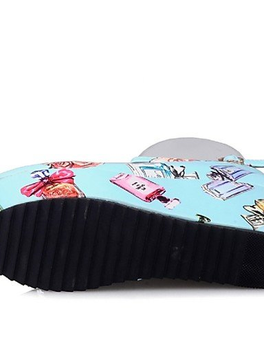 mujer personalizzati noche semicuero e materiales vestido plataforma ZQ tacones di redonda Casual Punta EU Feste 39 Scarpe plataforma 7ZZ6Ex