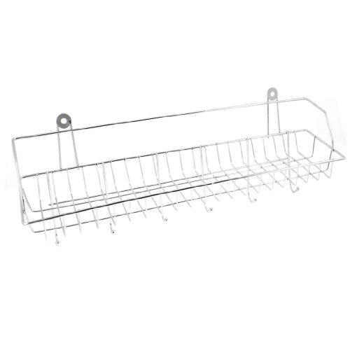 uxcell Metal 6 Hooks Toiletries Handbag Coat Scarf Wall Shelf Space Hanger