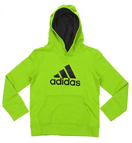 (Adidas Big Boys Youth Game Ready Pullover Fleece Hoodie, Green Black)