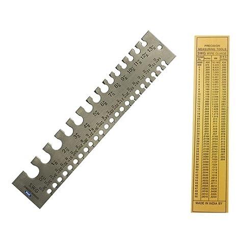 Amazon wire gauge measuring tool standard swg 0 36 precision wire gauge measuring tool standard swg 0 36 precision measuring insturment keyboard keysfo Images
